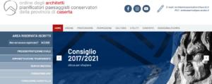 sito web ordine architetti caserta - bsoft - archiviva