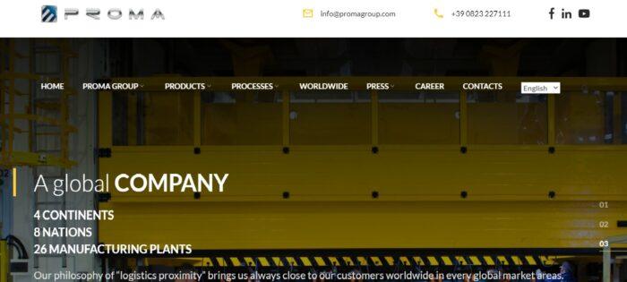 Sito web Gruppo Proma